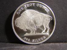 BUFFALO UNCIRCULATED 1 TROY OUNCE .999 FINE SILVER
