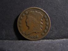 1828 FINE+ 13 STARS HALF CENT PIECE (VERY RARE / HIGH GRADE / DON?T MISS OUT ON THIS ONE !!!!!!!!!!!!!!!!!!!!)