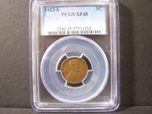 1923-S PCGS XF45 LINCOLN WHEAT CENT (KEY DATE / HIGH GRADE !!!!!!!!!!!!!!!!!!)