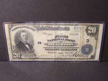 1902 $20 NATIONAL CURRENCY FIRST NATIONAL BANK OF YOUNGSTOWN OHIO (VG DETAILS / VERY RARE NATIONAL CURRENCY !!!!!!!!!!!!!!!!)