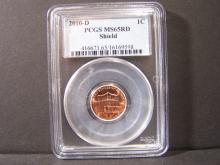 2010-D PCGS MS65RD LINCOLN SIELD CENT