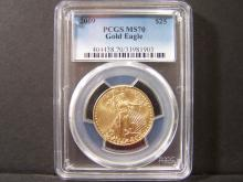 2009 1/2oz Gold Eagle.  PCGS Graded MS70!  A Perfect Coin!