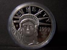 1997 Platinum Plated commemorative Coin.