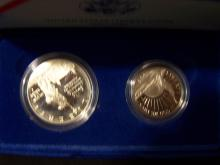 1986 Two-Coin Statue of Liberty Commemorative Coin Set.
