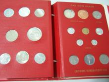 1968 World Coin Album With a few Silver Coins.  Includes coins Burundi, Nepal, Sudan, Uganda, The Vatican, and many more! Coins are set in custom album and documentation is included.