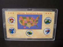 2002 Americana Series of Colorized State Quarters.