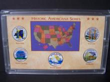 2001 Americana Series of Colorized State Quarters.