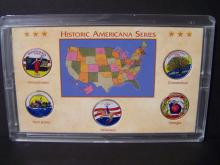 1999 Americana Series of Colorized State Quarters.