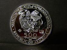 2013 Republic of Armenia 500 Dram.  1oz .999 Fine Silver.