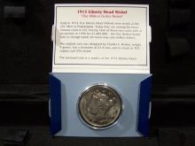 1913 Liberty Nickel Oversized Replica.  Approximately 1.5 inches in diameter.  Beautiful coin with proof finish.