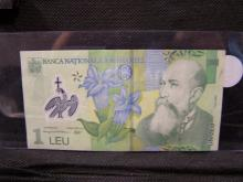 Romanian 1 Leu note.  Excellent condition and still negotiable.