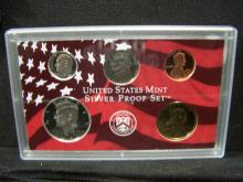2002-S 5-coin partial Silver Proof Set.  Sealed in original, mint issued plastic case.