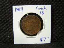 1884 Canada 1 cent.  In excellent condition with great color!