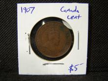 1907 Canada Cent.  Beautiful coin with lots of detail!