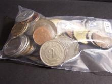 Grab Bag of World Coins.  Weighs Half-Pound.
