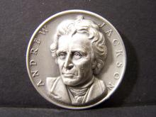 SILVER!!! 3D COMMEMORATIVE ANDREW JACKSON SILVER PIECE (JUST SHY OF 1 OUNCE SILVER !!!!!!!!!!!!!!!!)