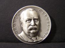 SILVER!!! 3D COMMEMORATIVE GROVER CLEVELAND SILVER PIECE (JUST SHY OF 1 OUNCE SILVER !!!!!!!!!!!!!!!!)