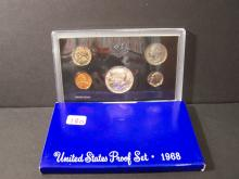 1968 UNITED STATES PROOF SET (WITH SILVER HALF DOLLAR !!!!!!!)