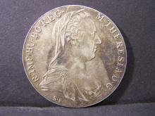 1780 X S.F. VF. ORIGINAL Hungarian Thaler.  Very Popular and highly collected world coin.