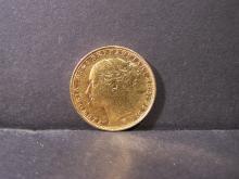 1885 CIRC. Queen Victoria Gold Sovereign.