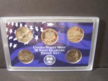 2008-S Proof State Quarter Set.