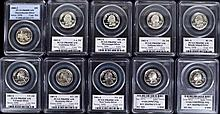 10 silver state quarters all high grade slabbed