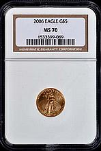 2006 MS70  Eagle gold coin $ 5.00