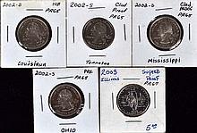 5 U.S.State proof quarters