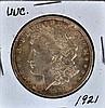 1921 Morgan U.S. silver dollar UNC