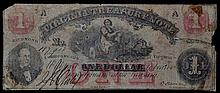 1862 One Dollar Virginia Treasury Note