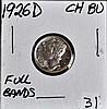 1926-D Mercury Dime CH BU Full Bands Lustrous