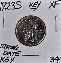 1923-S U.S. Standing Liberty Quarter XF KEY!!!