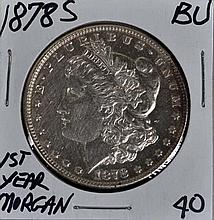 1878-S Morgan Dollar BU 1st Year Morgan
