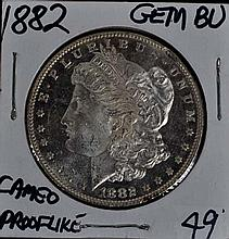 1882 Morgan Dollar GEM BU Cameo Prooflike!!