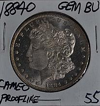 1884-O Morgan Dollar GEM BU Cameo Prooflike