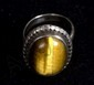 Tiger eye sterling ring