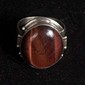 Red tiger eye and sterling ring