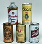 Lot of 5 Vintage Beer Cans