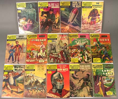 14 Classics Illustrated comic books 1944-58