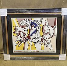 Roy Lichtenstein - Hand Signed Lithographic Poster