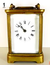 Waterbury Carriage Clock with Brass Alarm Bell
