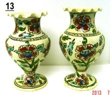 Kutahya Turkish Ceramic Floral Vases