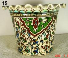 Kutahya Turkish Folk Art Ceramic Floral Planter