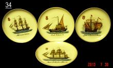 Porcelain Plates marked 'VA Portugal'