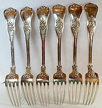 6 Tiffany & Co. Sterling Olympian Forks
