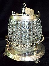 Victorian English Cut Crystal Biscuit Jar
