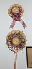 Decorated Country Style Straw Hats Wall Decorations