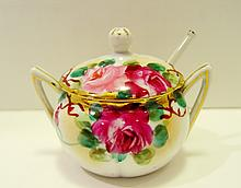Porcelain Roses Jam Jar