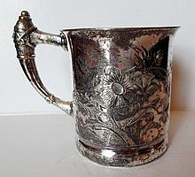 Freeman & Taylor Quad Plate Etched Cup