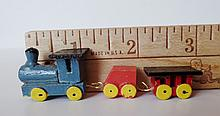 Miniature Hand Painted Wooden Train